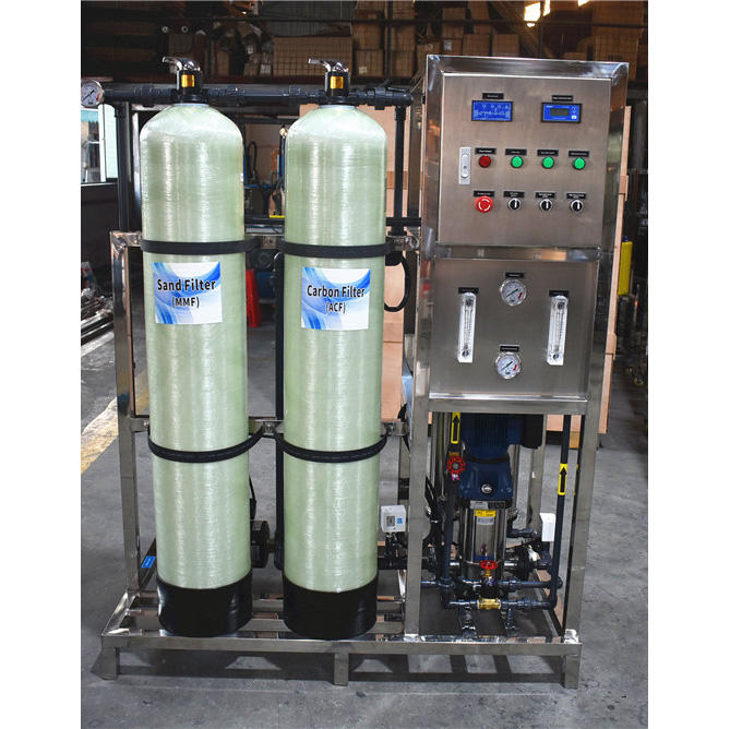 500 liter per hour Reverse Osmosis systems RO skid Potable water treatment Plant