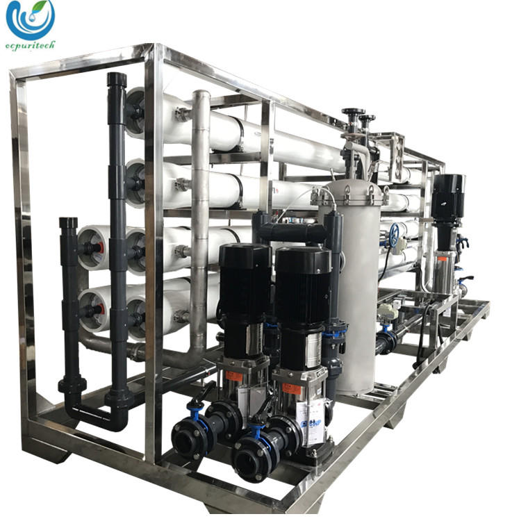 30TPH RO water purification system / Water Treatment reverse osmosis purification filtration with carbon steel filter
