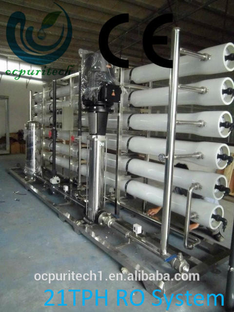 21T/H CE Reverse osmosis system brackh water /RO Water Purification System