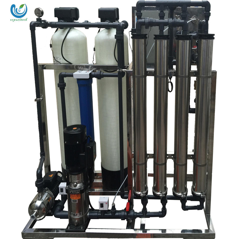 1000l per hour reverse osmosis system for borehole salty water treatment system