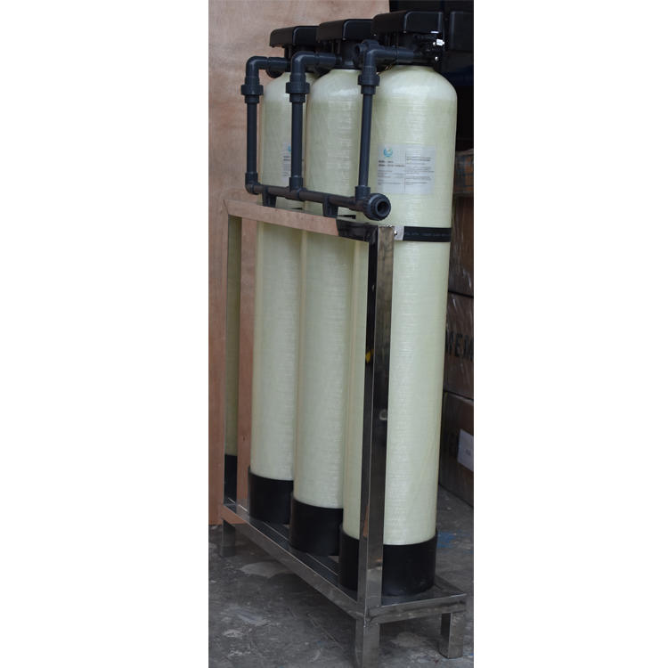 800 gpd small industrial water treatment sand carbon and softener water pretreatment system
