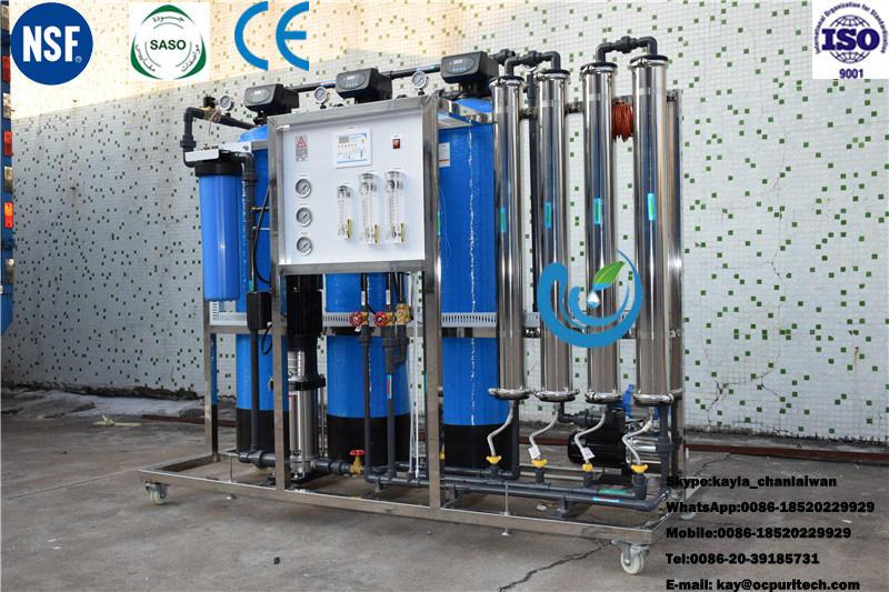 1000 liters activated carbon filter / quartz sand filter reverse osmosis plant