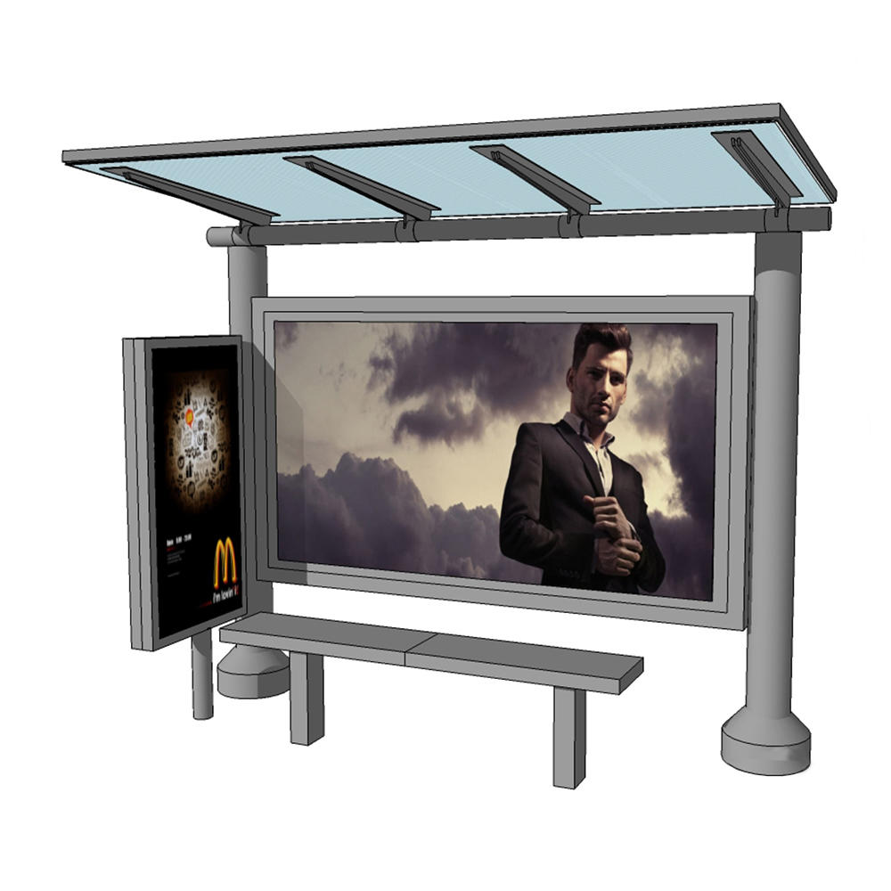 Stainless steel customized made bus stop shelter