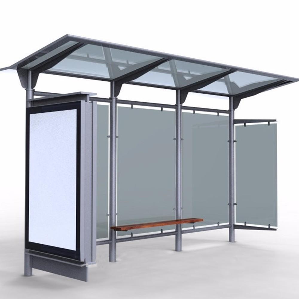Advertising Display Metal Light Box Bus Station Shelter