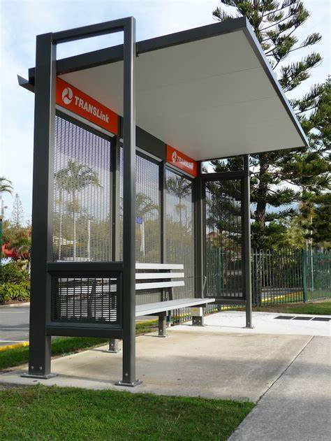 New Design Bus Stop Stainless Steel Advertising Bus Shelter