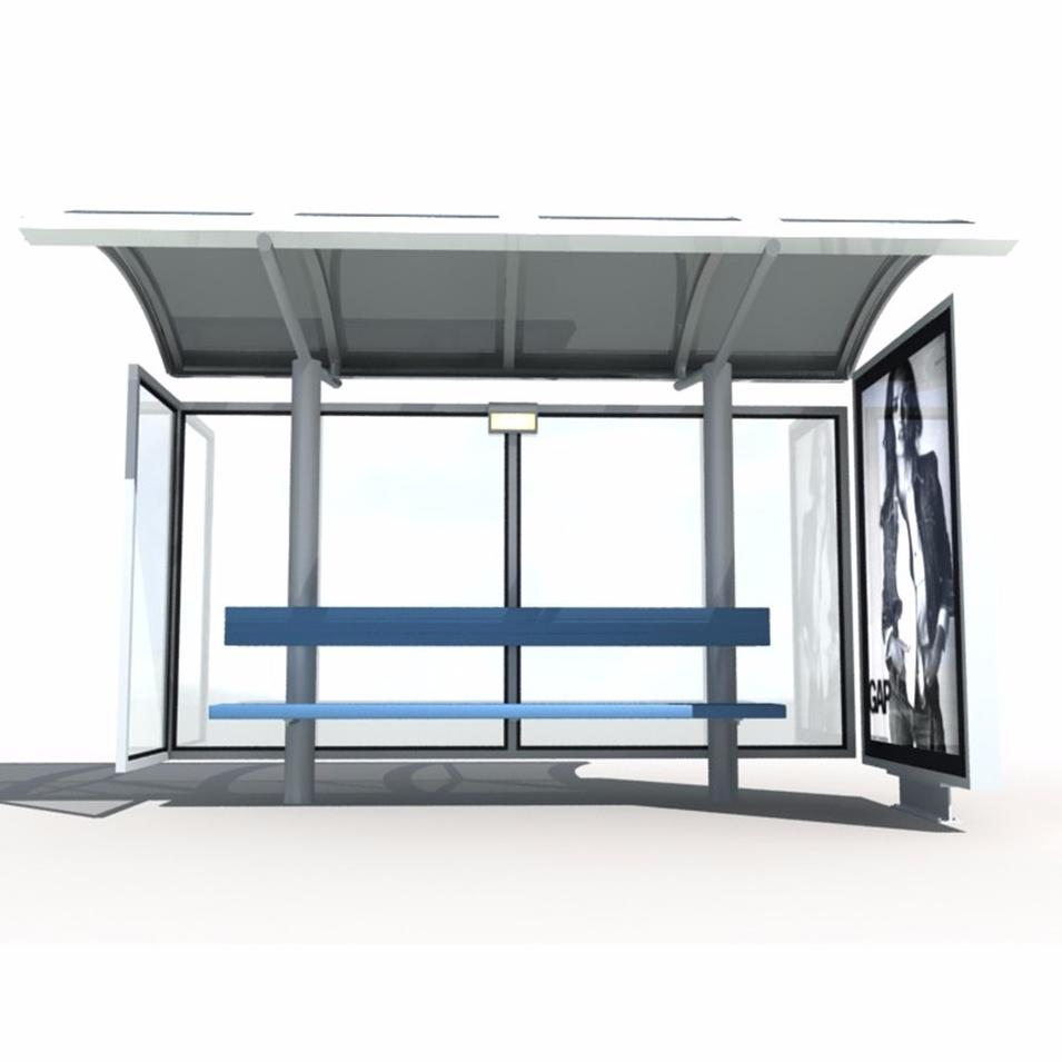 Solar Light Bus Stop With Emergency Stop Switch