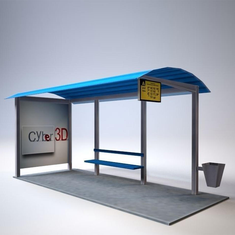 Modern manufacture bus stop shelter design