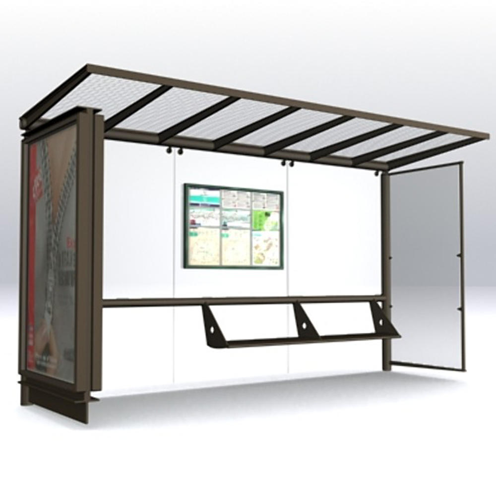Galvanized steel structure advertising bus stop