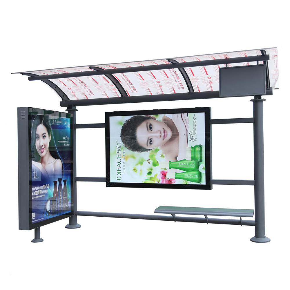 Wholesale outdoor bus stop shelter for advertisement use