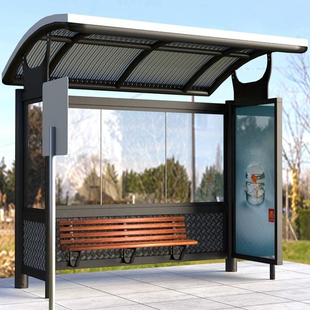 Stainless Steel Advertising Bus Stop Shelter Prices