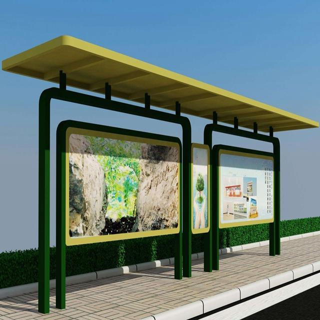 Billboard Structure Bus Station Modern Bus Shelter Manufacturer