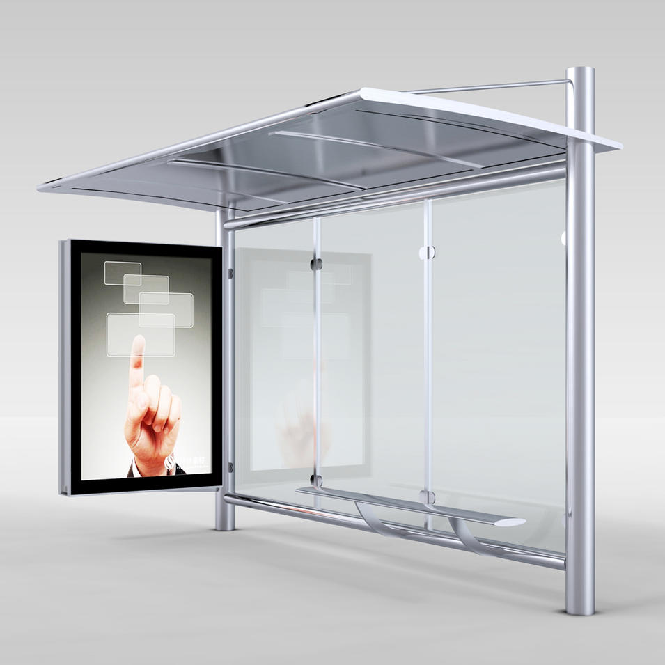 Competitive price metal bus stop shelter