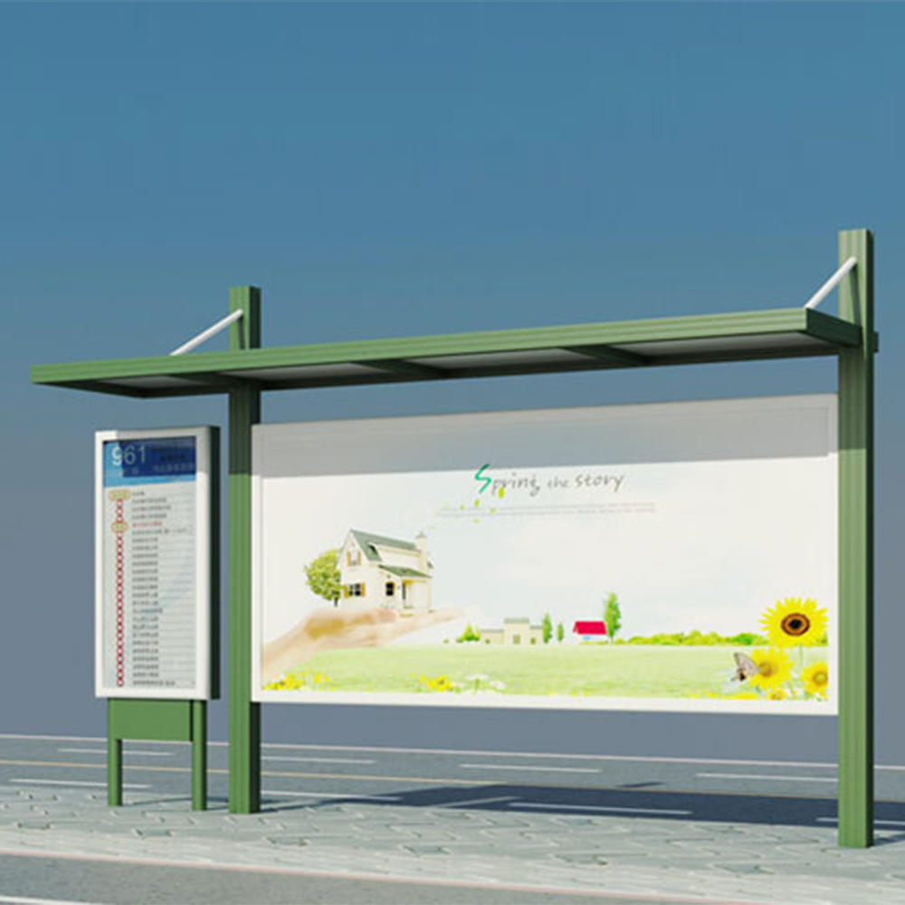 Bus Stop Station Booth for advertising display with LED sign