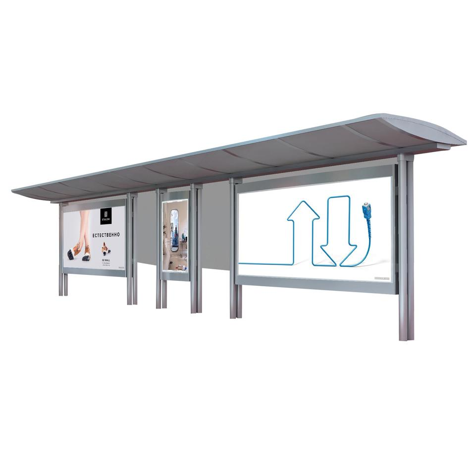 High quality stainless steel bus shelter advertising