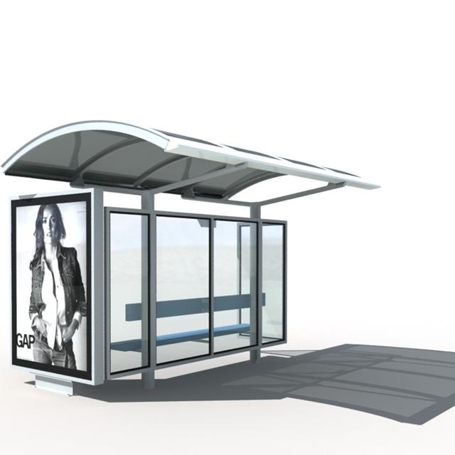 New design outdoor bus shelter advertising bus stop
