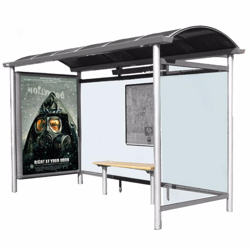 Modern Customized Metal Bus Shelter Stainless Steel Bus Stop