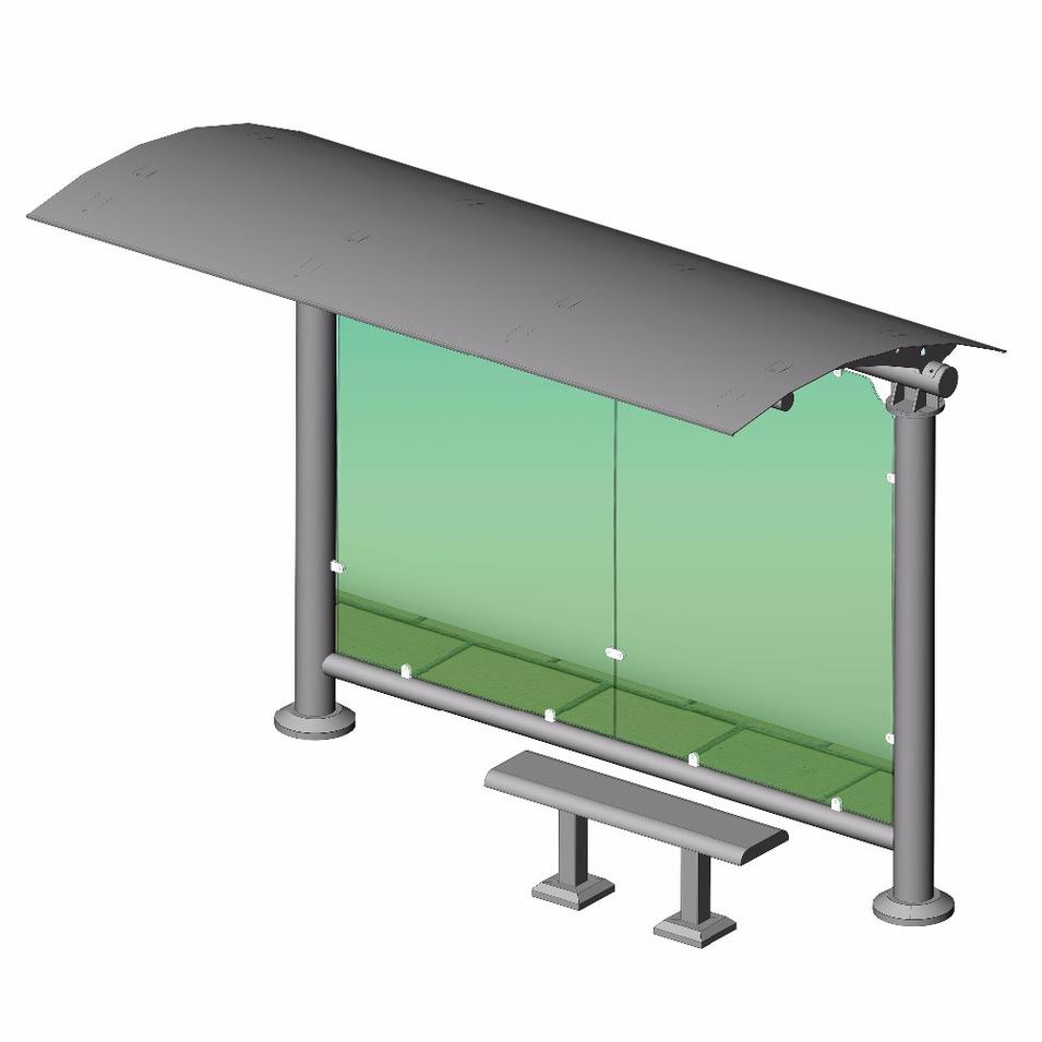 Outdoor Metal Bus Stop Shelter Stainless Steel Bus Stop Shelter