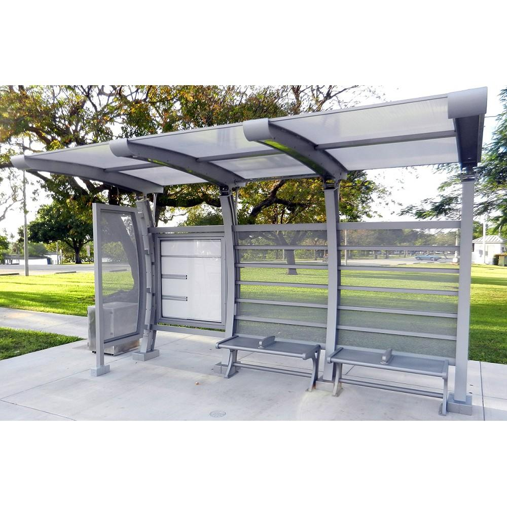 Customized dimensions stainless steel bus stop shelter