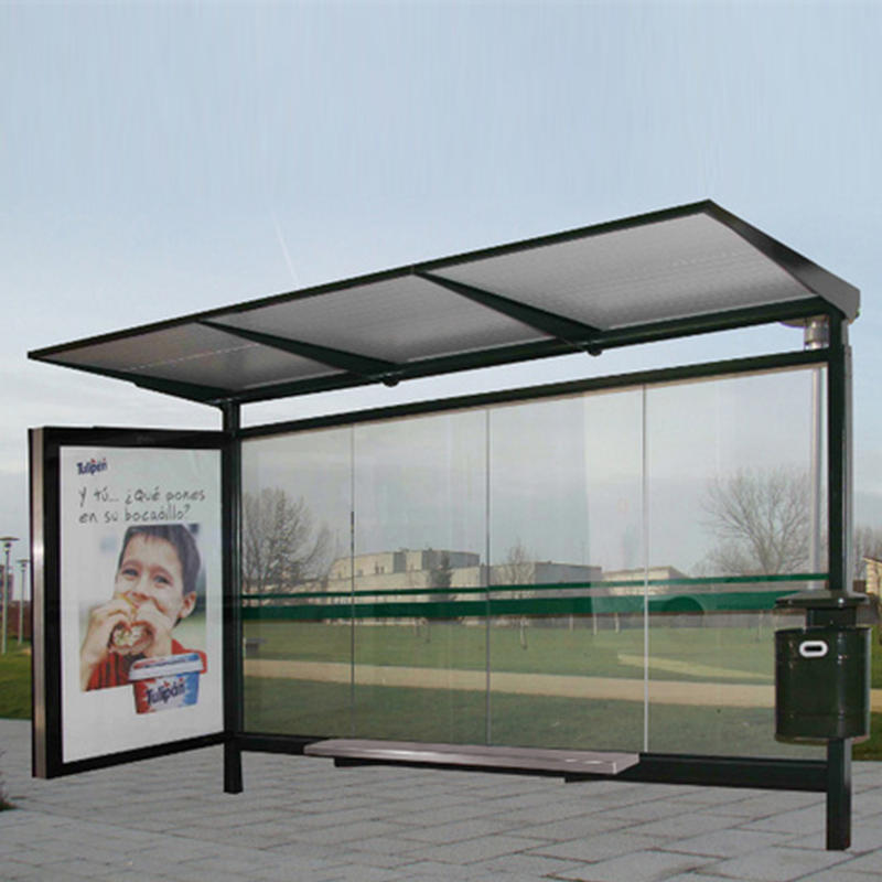 Stainless steel factory price bus stop shelter