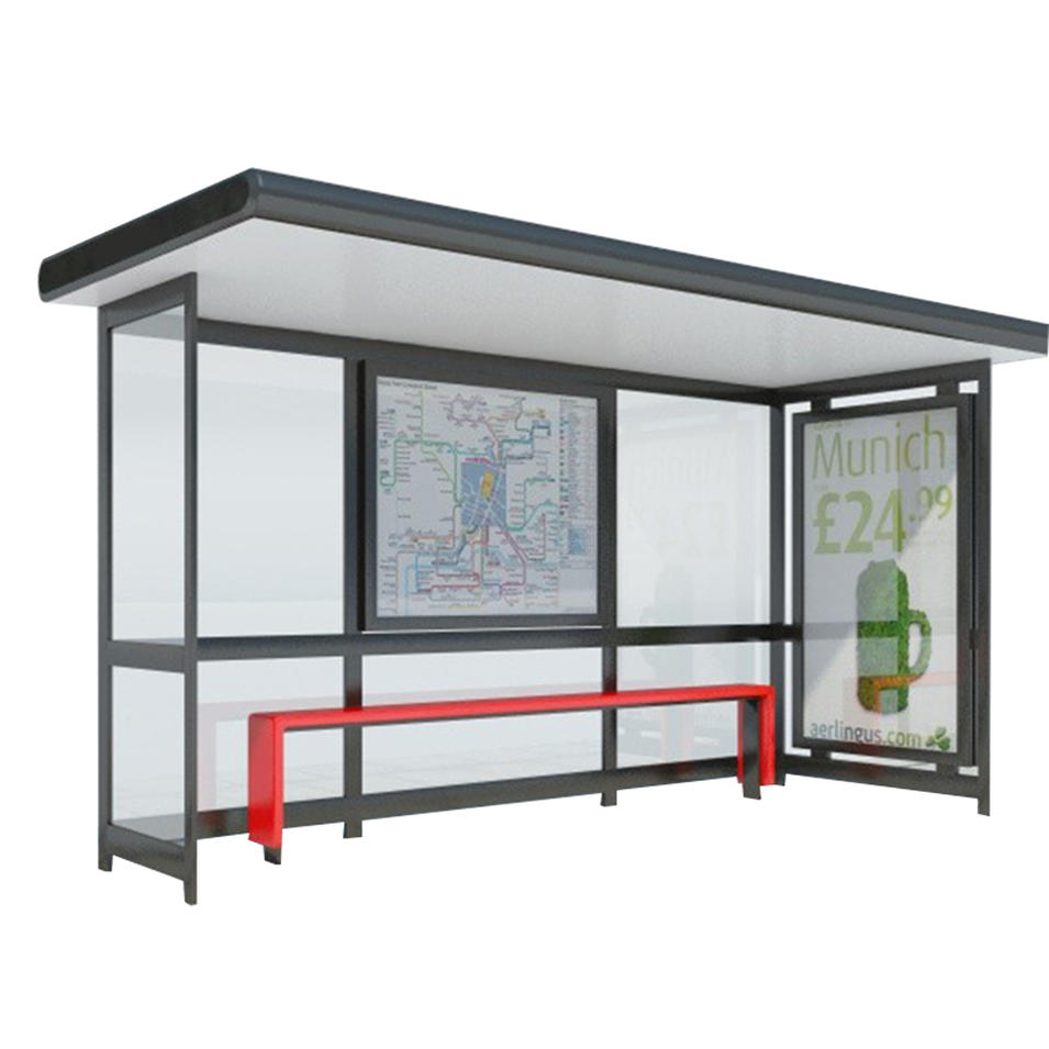 Factory manufacturer outdoor tempered glass bus shelter stop