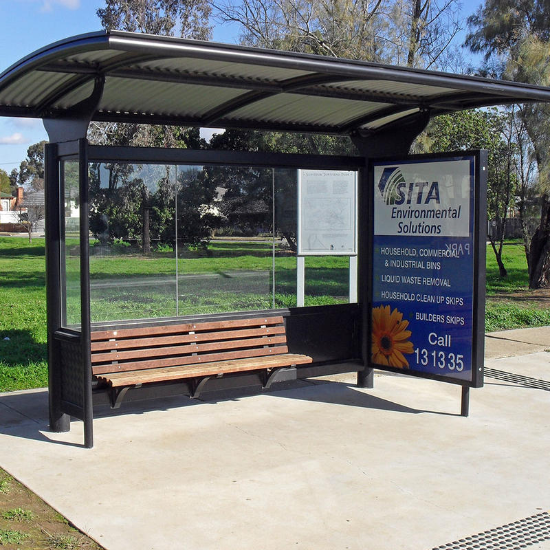Newest design metal bus stop shelter