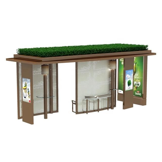 2020 Metal Bus Shelter Design Advertising Bus Stop Manufacturer