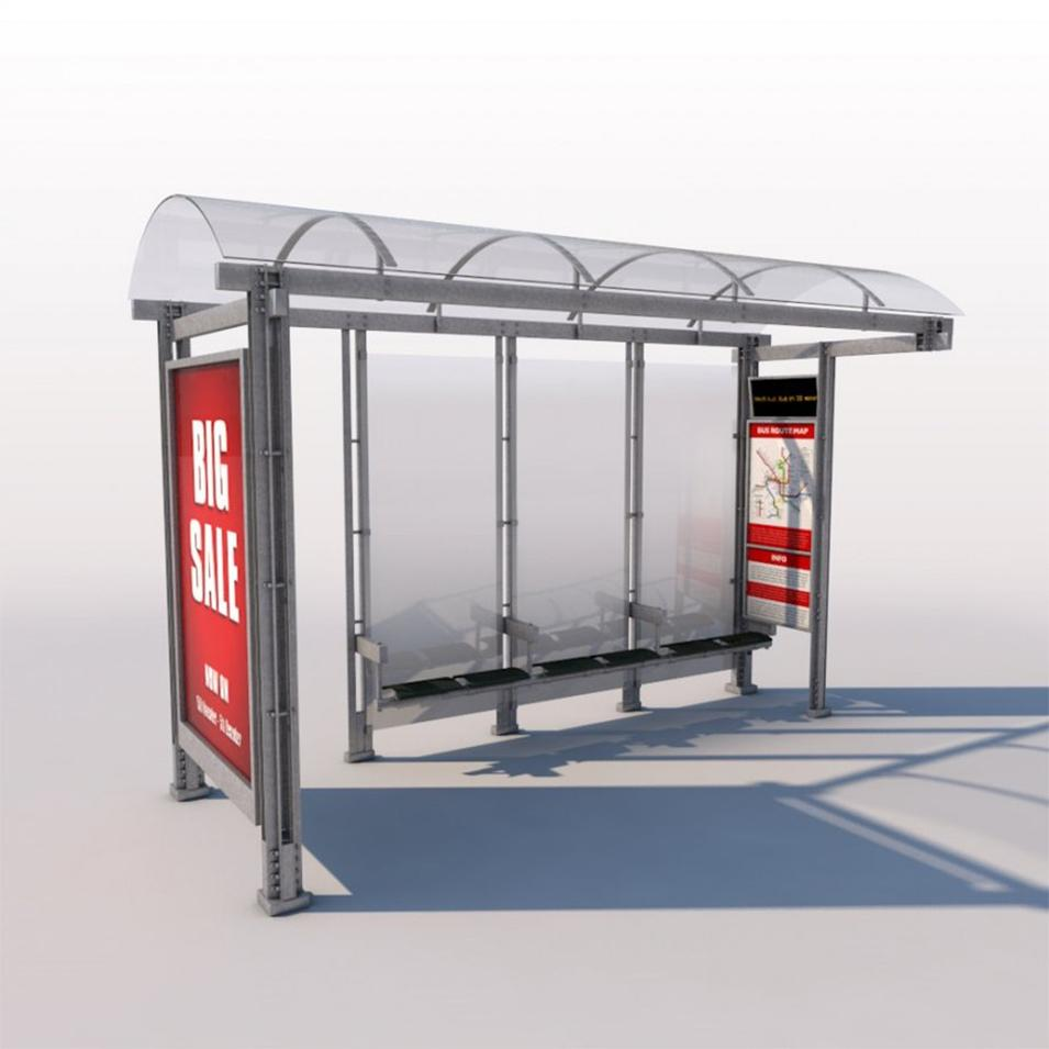 New design advertising bus stop bus shelter manufacturer