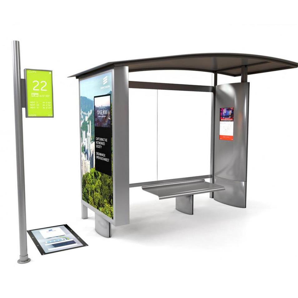 Hot sale bus stop shelter design