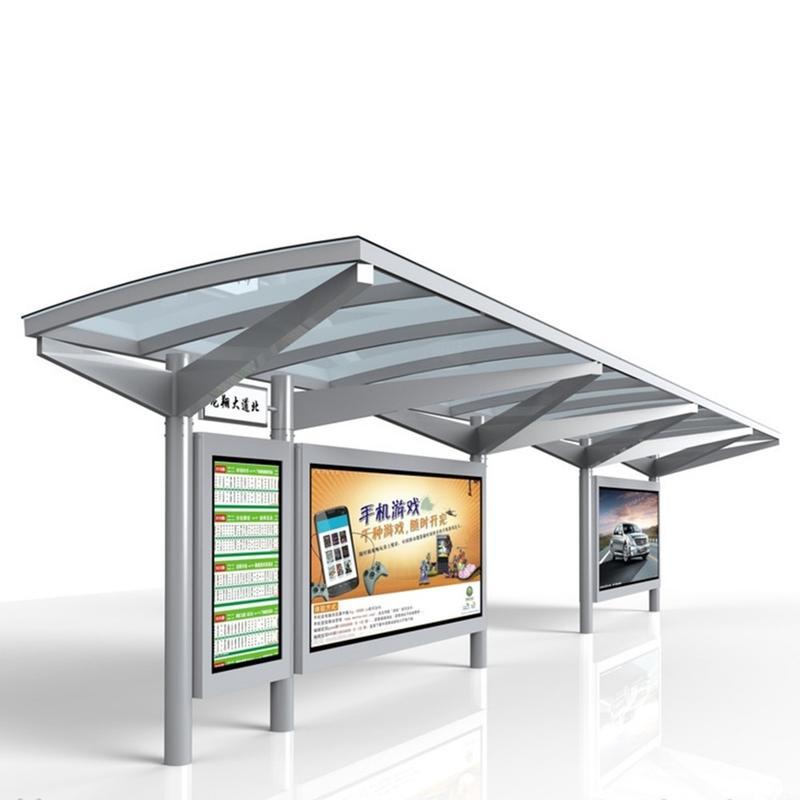 City Public Modern Bus Shelter High Quality Bus Shelter Manufacturer