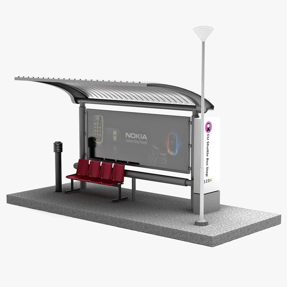 2020 outdoor advertising bus stop bus shelter manufacturer