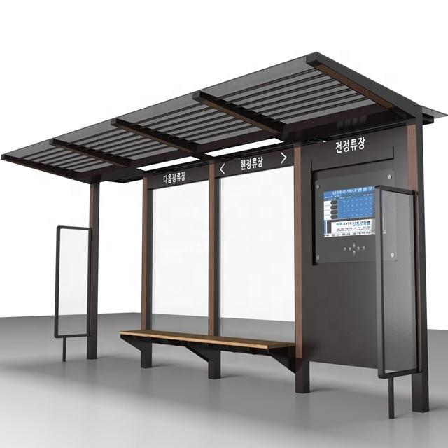 Bus station bus shelter manufacturers provide professional project solutions