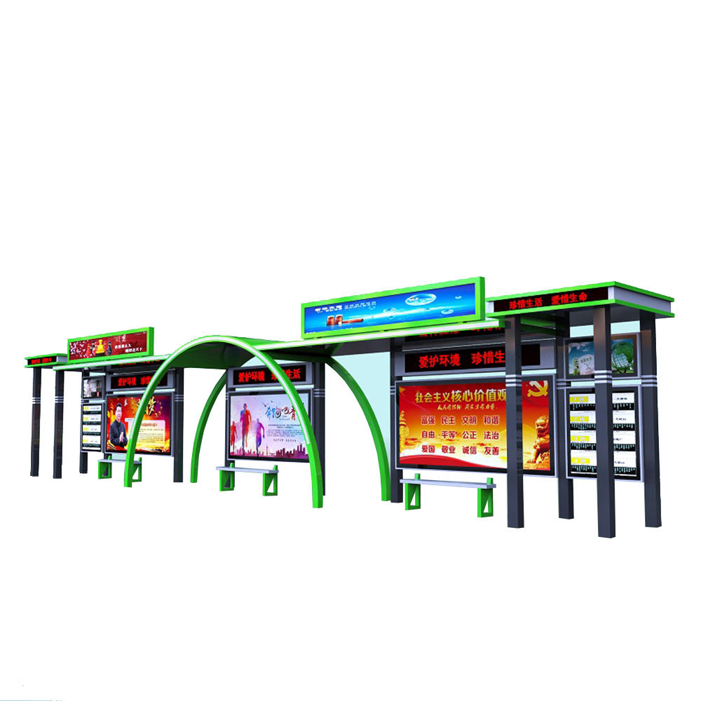 Multi-function Advertising Display Bus Shelter Station