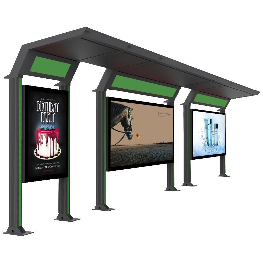 School Bus Stop shelter materials prefab with light