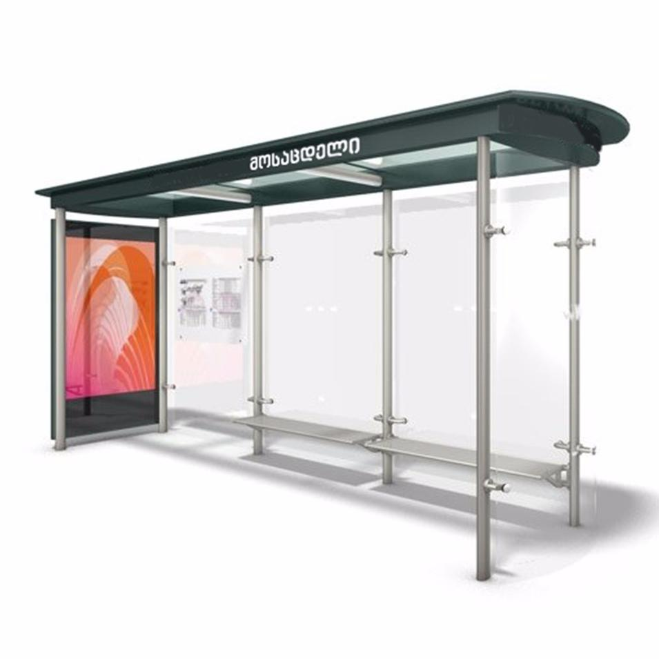 Customized high quality bus stop shelters for sale