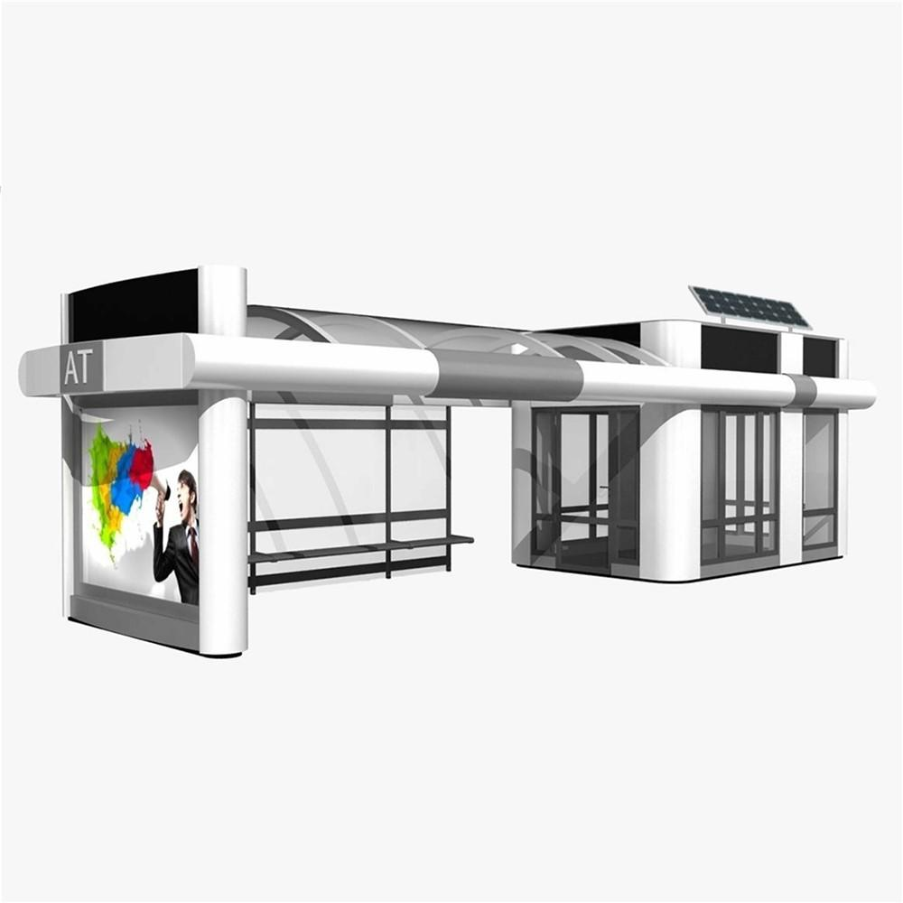 Modern outdoor waterproof adverting bus stop station shelters