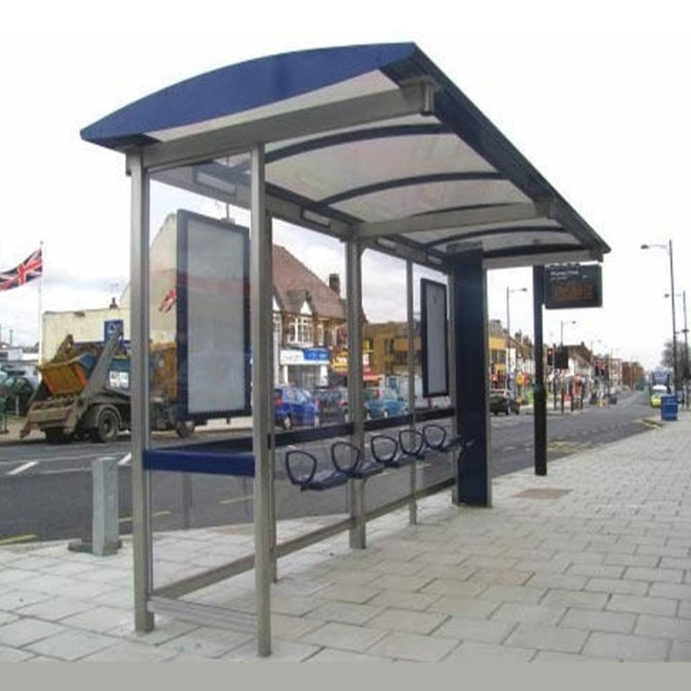 Outdoor furniture city stainless steel bus stop shelter