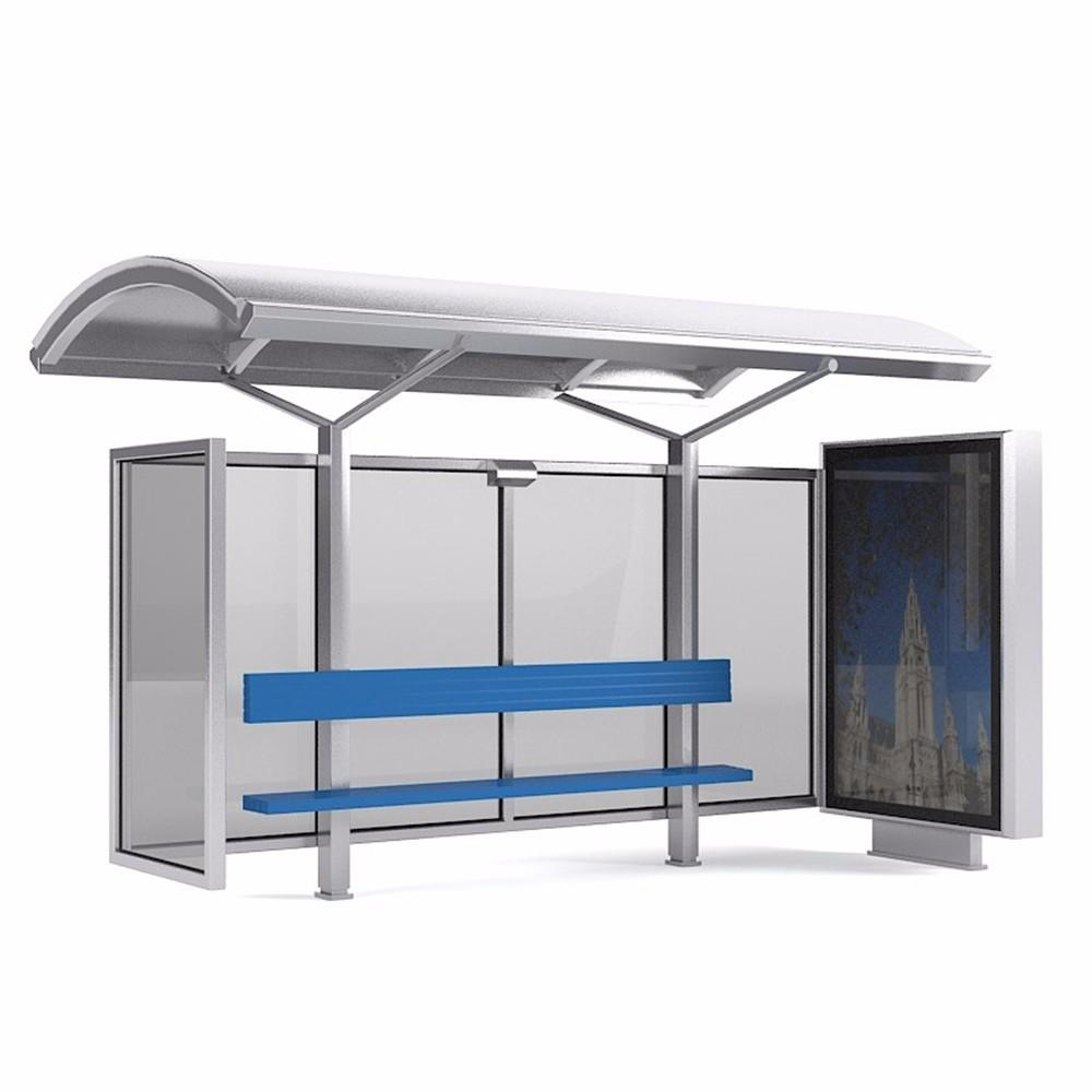 Smart design Q235 steel material high quality bus shelters for sale