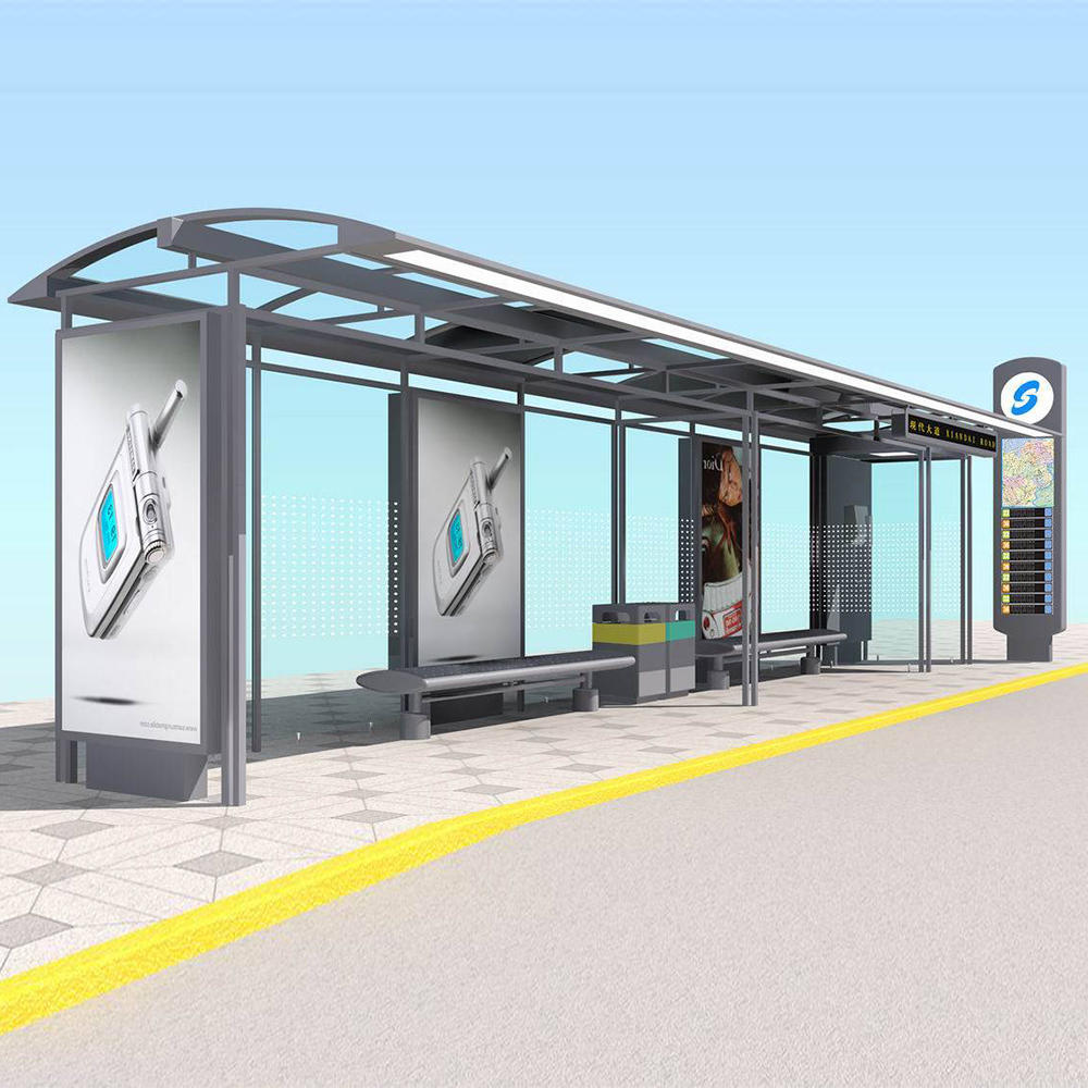 Outdoor Advertising bus shelter stop bus shelter