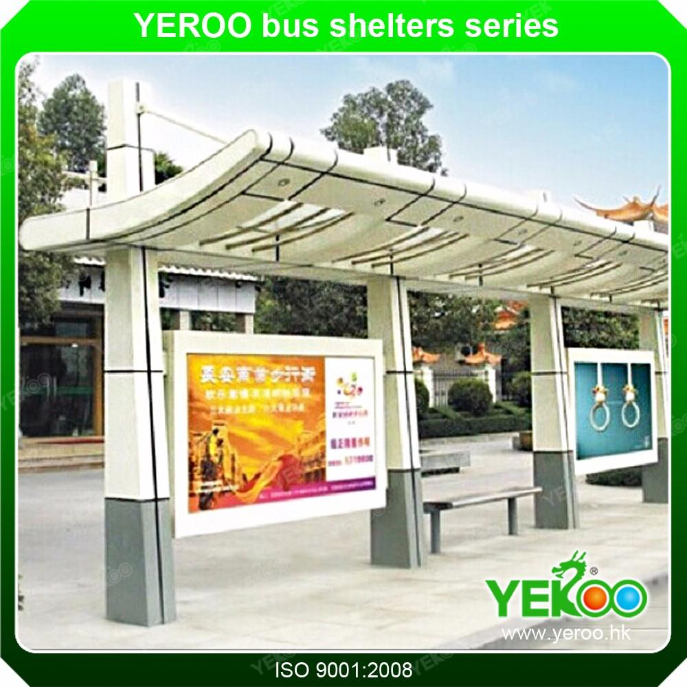 Modern Bus Stop Shelter Station with Waiting Chairs