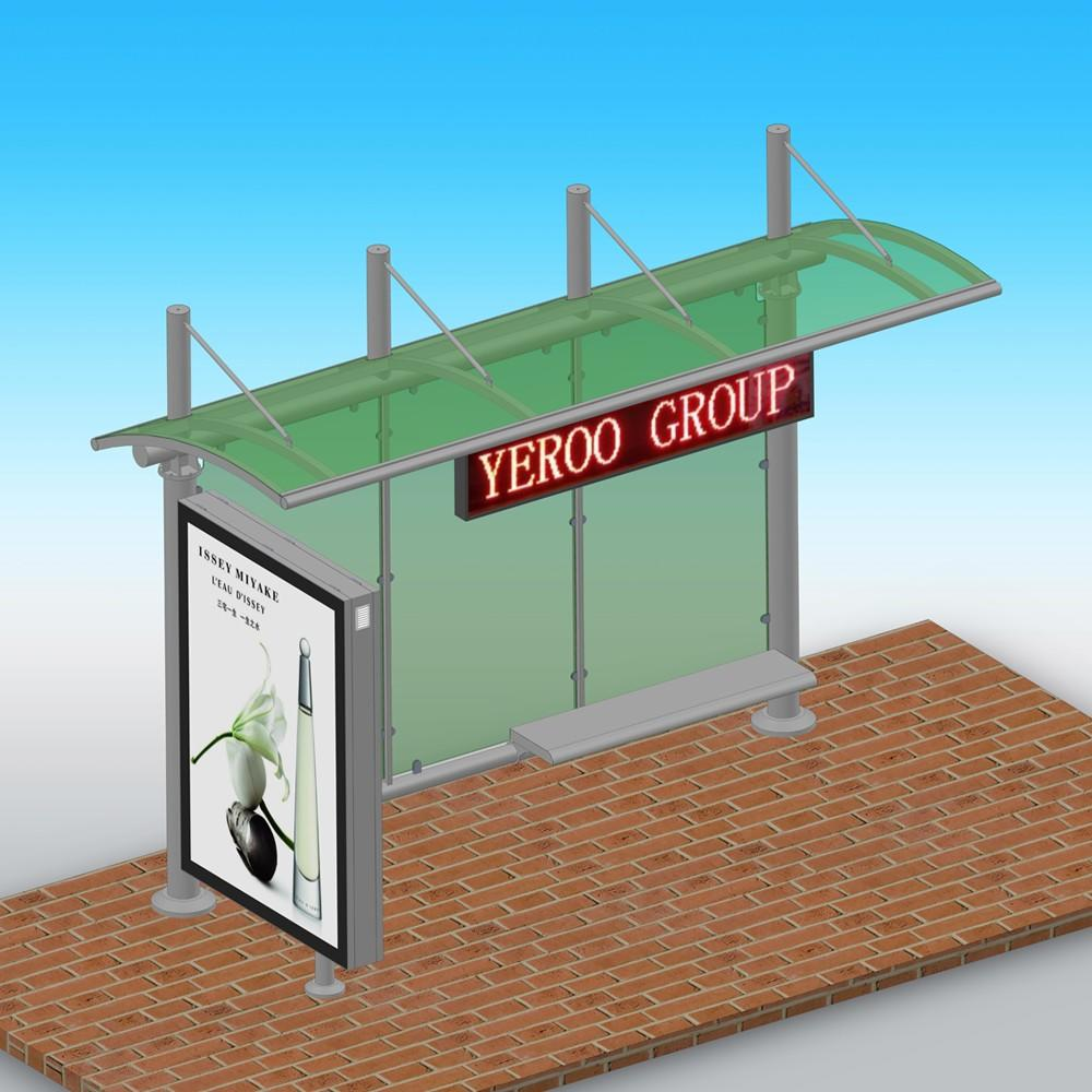 High Quality Used Bus Stop Shelters with canopy and screen for Sale