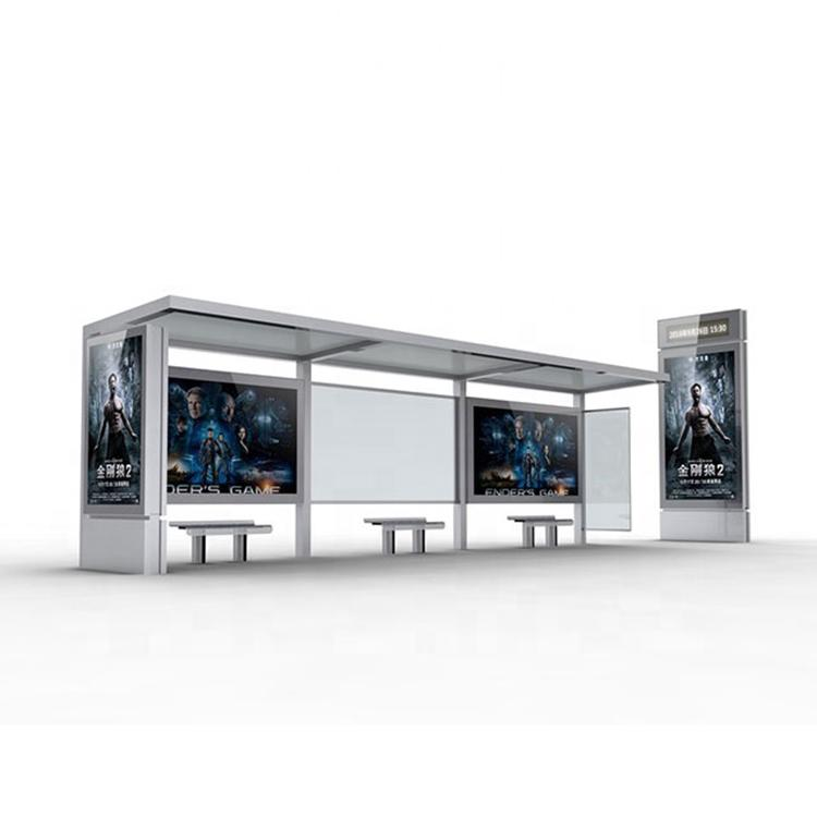 Hot-selling stainless steel bus shelter