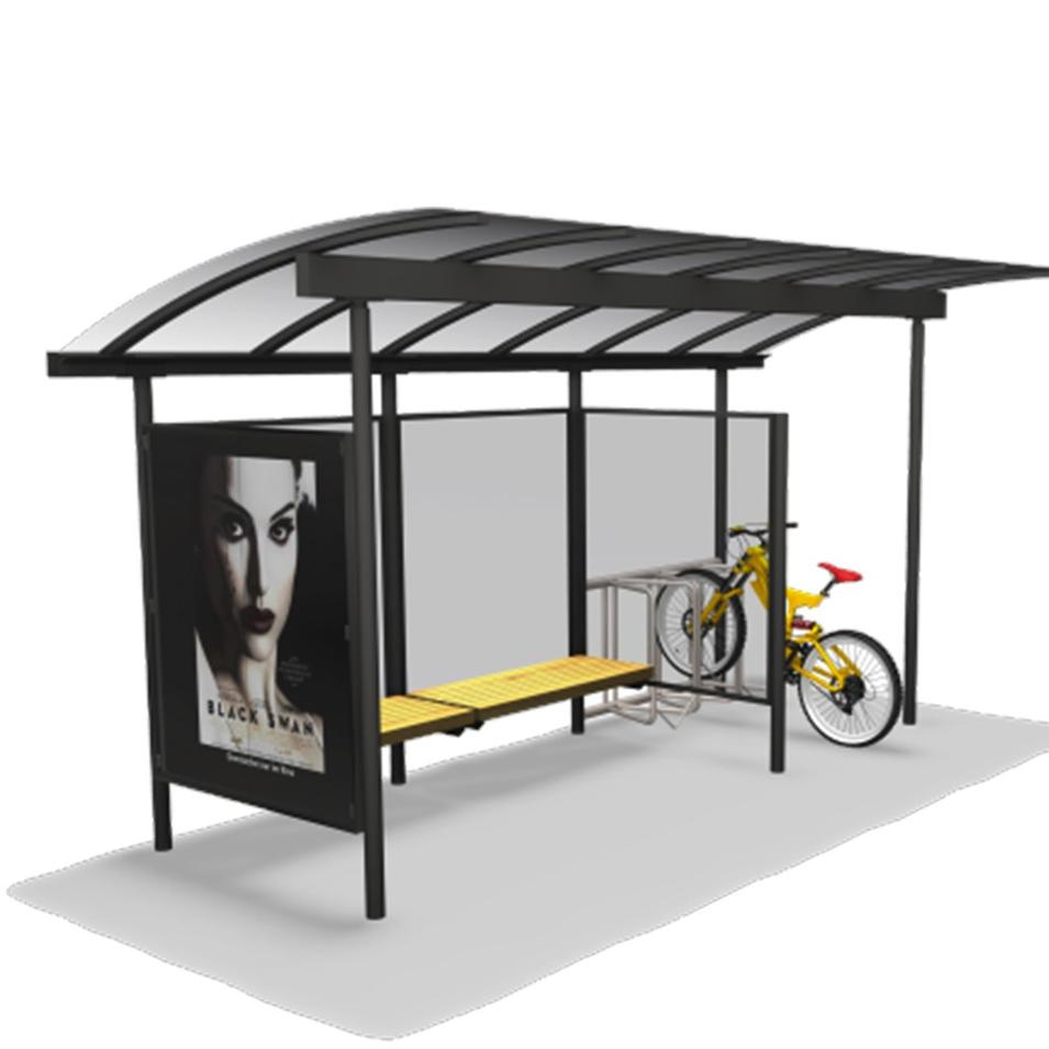 Modern Metal Bus Stop Shelter Price
