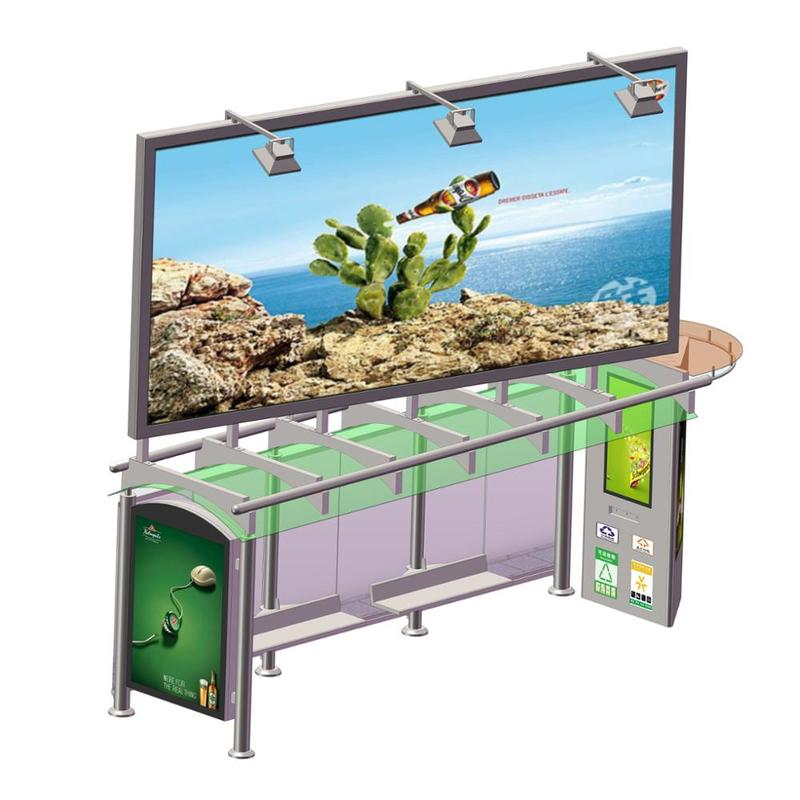 Street advertising bus shelter customized outdoor bus stop