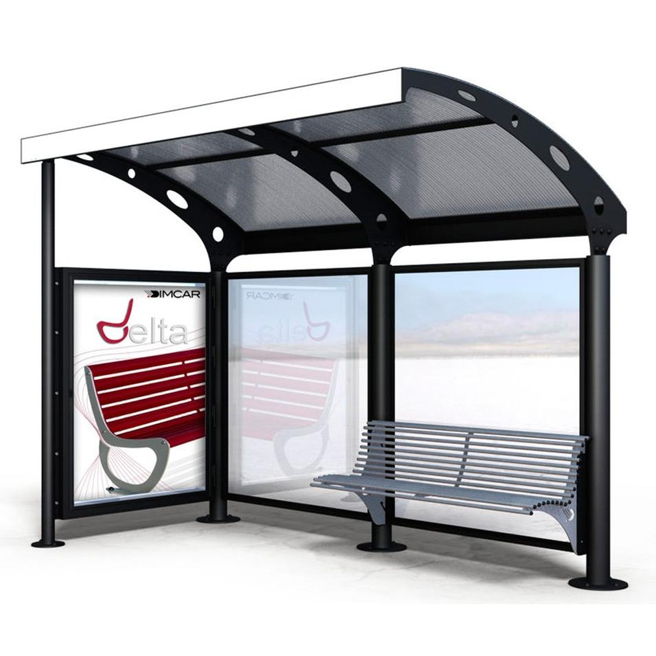 Metal Bus Stop Shelter Design Advertising Billboard