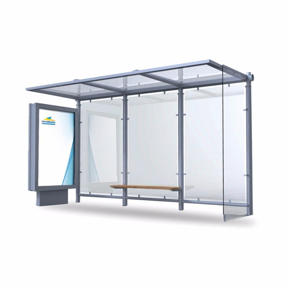 Smart advertising bus stops shelter station light box