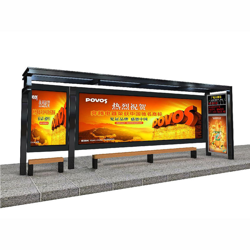 Design fashion Advertising customized bus stop shelter with light box