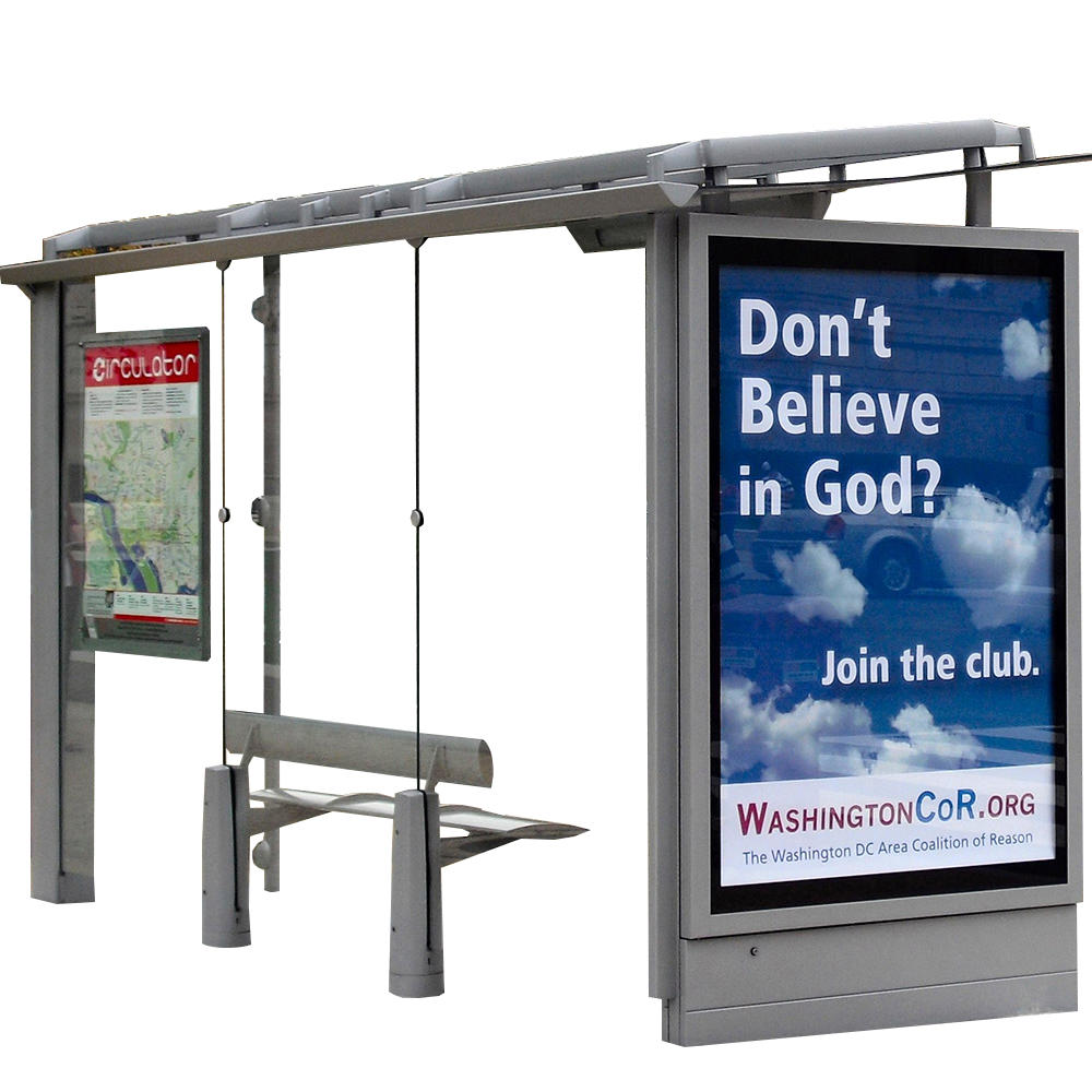 Outdoor bus shelter light box bus stop shelter for sales