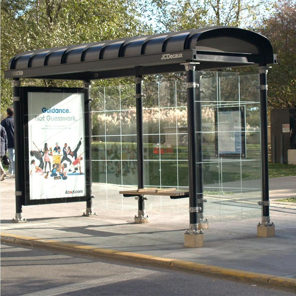 Professional stainless steel bus shelter bus stop for advertising