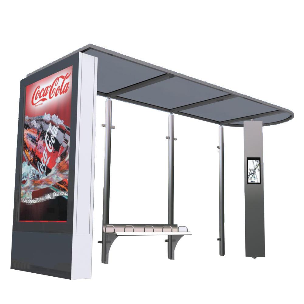 Modern Design Passenger Waiting Outdoor Bus Station Shelter