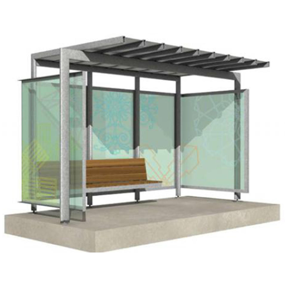 Street Furniture Modern Advertising Light Box Bus Shelter